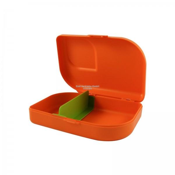 Nana Brotbox Jausenbox mit KlipVerschluss, Farbe: mandarin