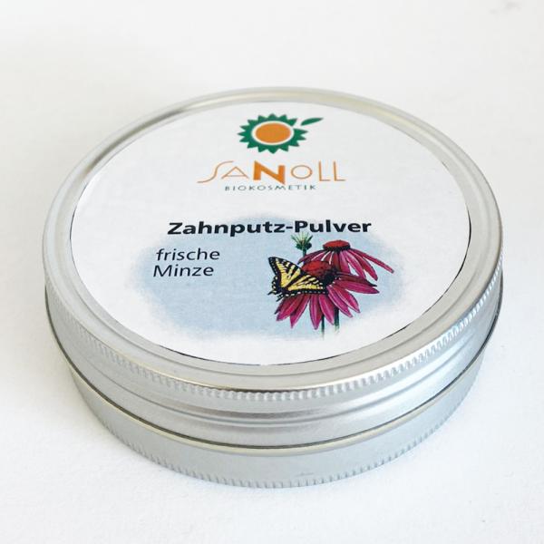 Sanoll Zahnputz-Pulver FRISCHE MINZE, 50g