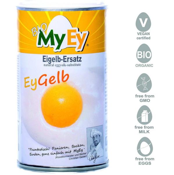 MyEy EyGelb Eigelb-Ersatz für Hühnerei, vegan, kräftig in Farbe und Geschmack